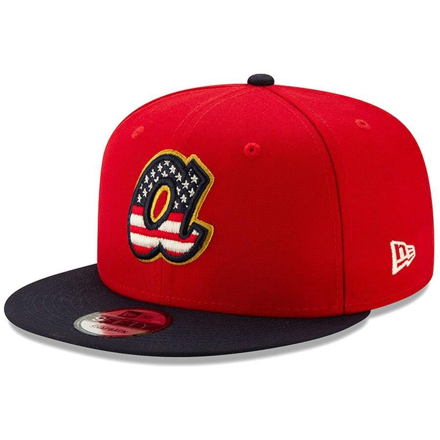 New Era MLB Men's Atlanta Braves 2019 Stars & Stripes 4th of July 9FIFTY Adjustable Snapback Hat