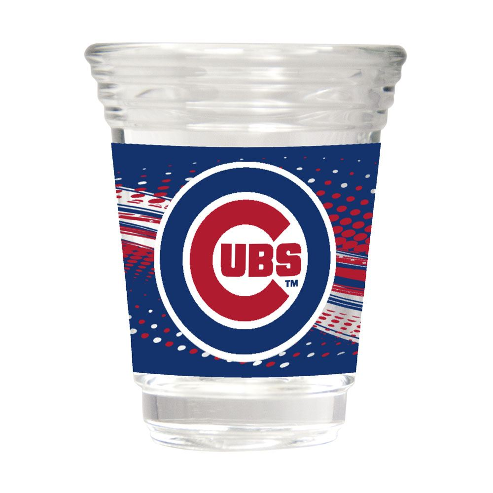 Great American Products MLB Chicago Cubs Party Shot Glass w/Metallic Graphics 2oz.