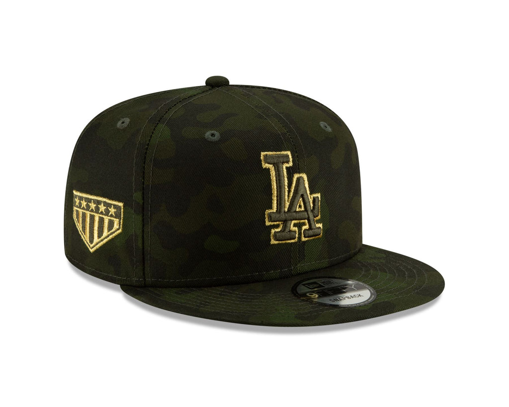 New Era MLB Men's Los Angeles Dodgers Armed Forces Day On-Field 9FIFTY Adjustable Snapback Hat