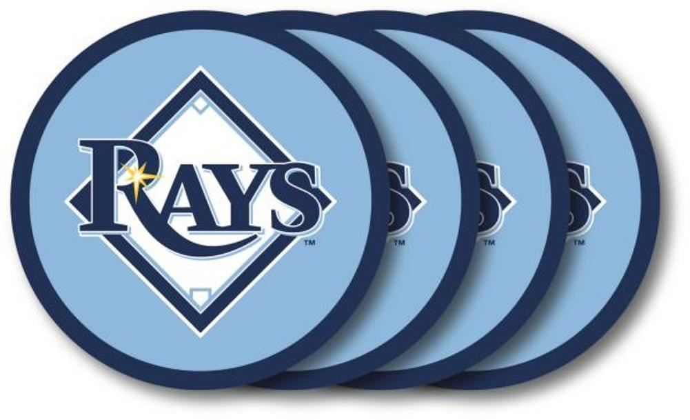 Duck House MLB Tampa Bay Rays Coaster Set 4-Pack