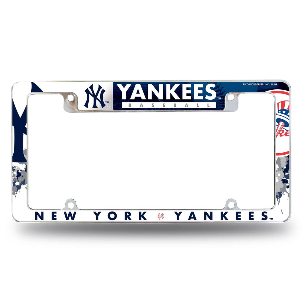 Rico MLB New York Yankees Auto Tag All Over Chrome Frame AFC