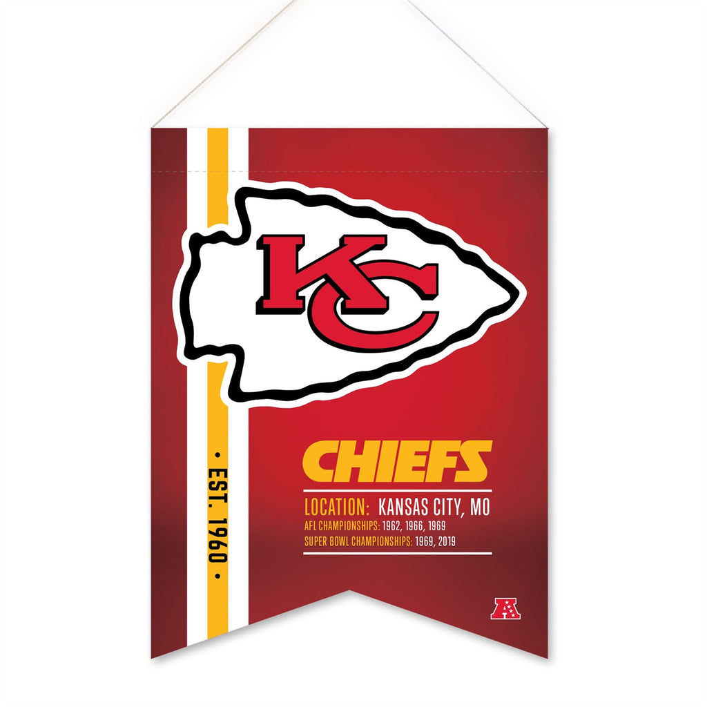 "Rico NFL Kansas City Chiefs Soft Felt Hanging Scroll Banner 18"" X 24"""