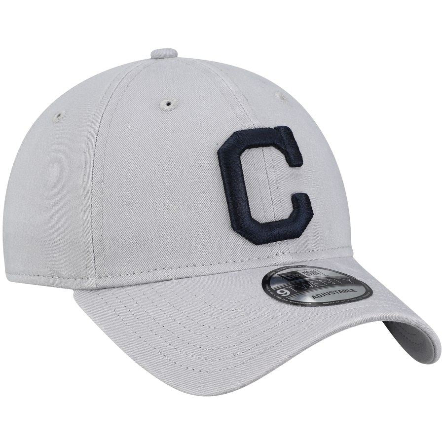 New Era MLB Men's Cleveland Indians Core Classic Team 9TWENTY Adjustable Hat Grey OSFA