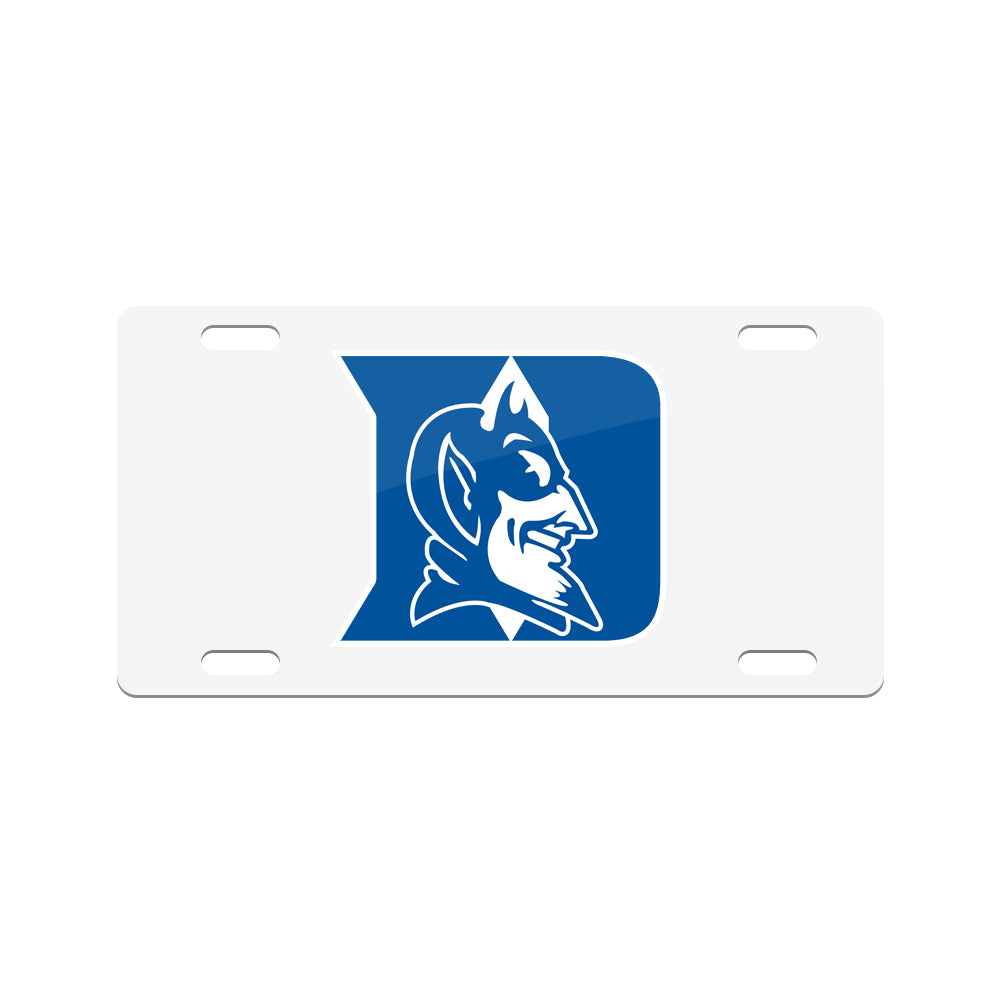 Jay Mac Sports NCAA Duke Blue Devils Metal License Plate White