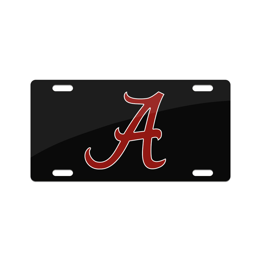 Jay Mac Sports NCAA Alabama Crimson Tide  Metal License Plate Black