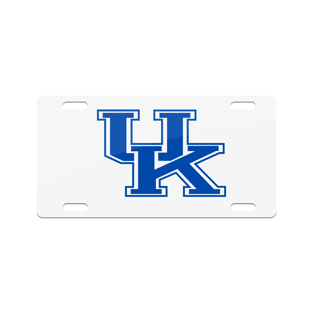 Jay Mac Sports NCAA Kentucky Wildcats Metal License Plate White