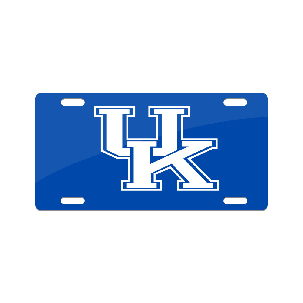 Jay Mac Sports NCAA Kentucky Wildcats Metal License Plate Blue