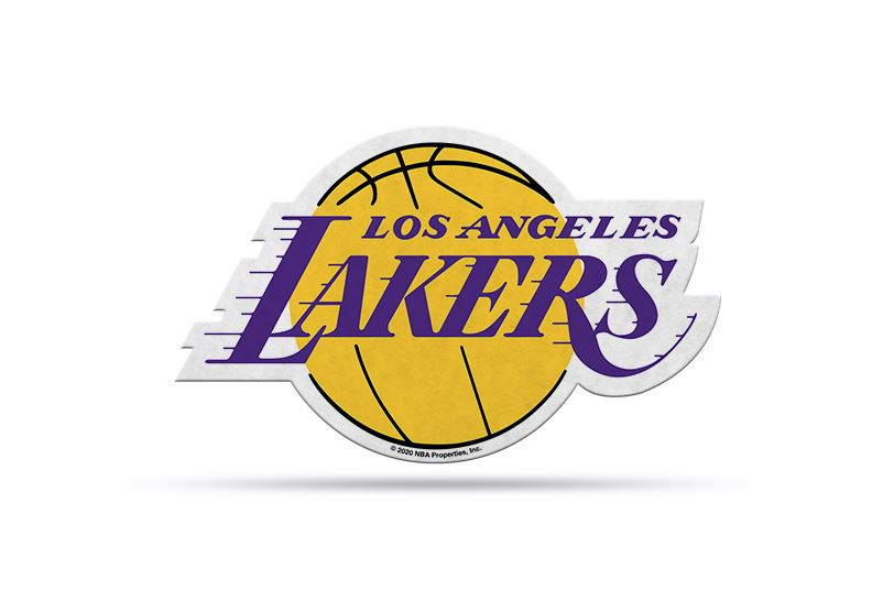 "Rico NBA Los Angeles Lakers Shape Cut Primary Logo Pennant 18"" x 18"""