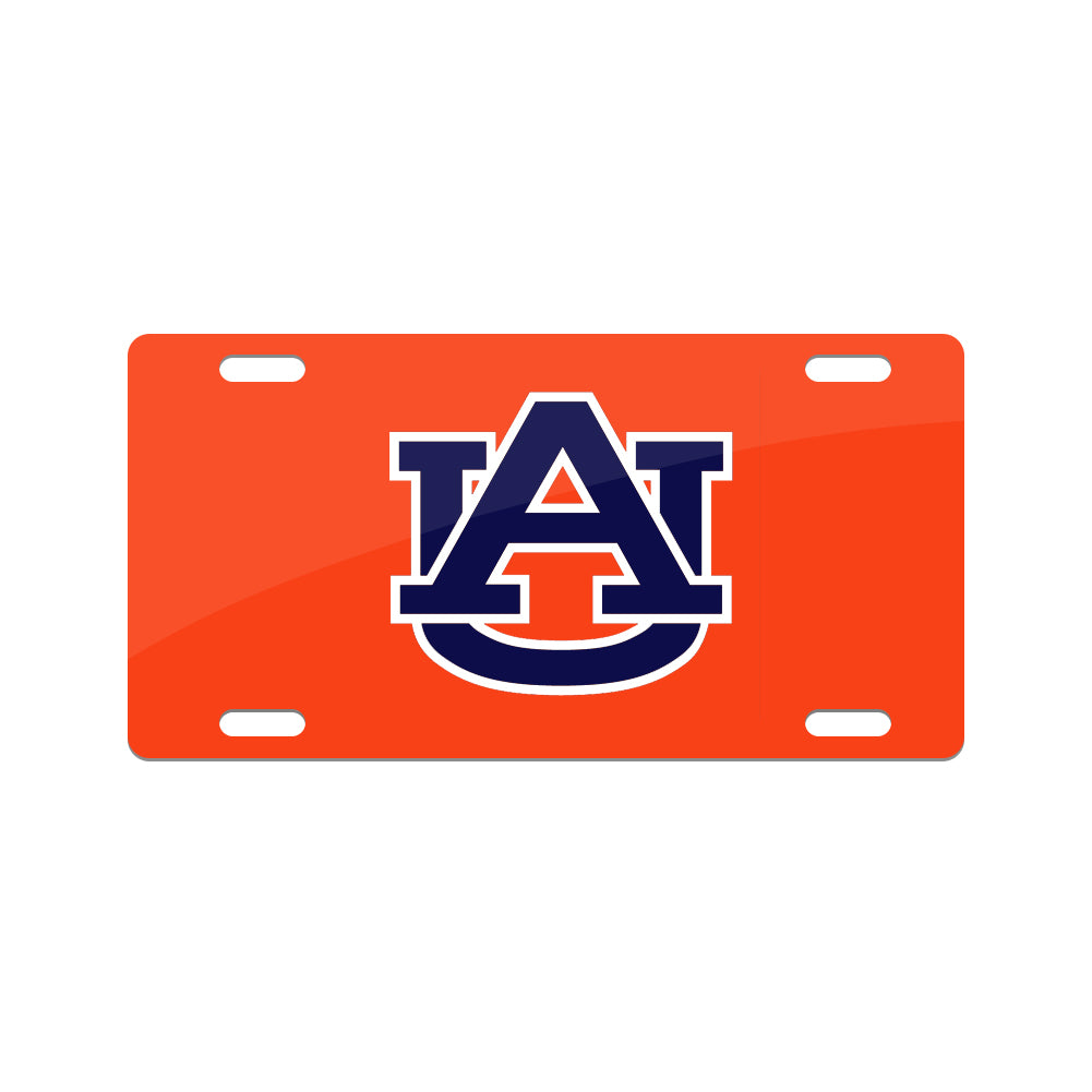 Jay Mac Sports NCAA Auburn Tigers  Metal License Plate Orange