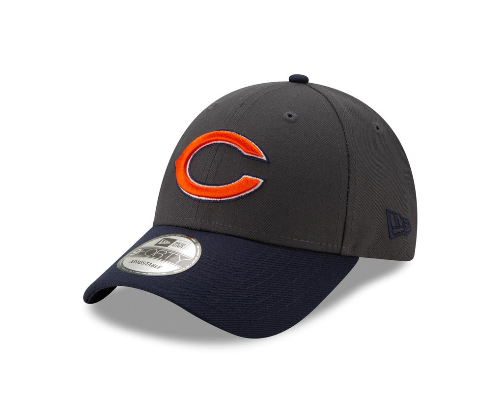 New Era NFL Men's Chicago Bears The League Graphite 9FORTY Adjustable Hat Graphite One Size