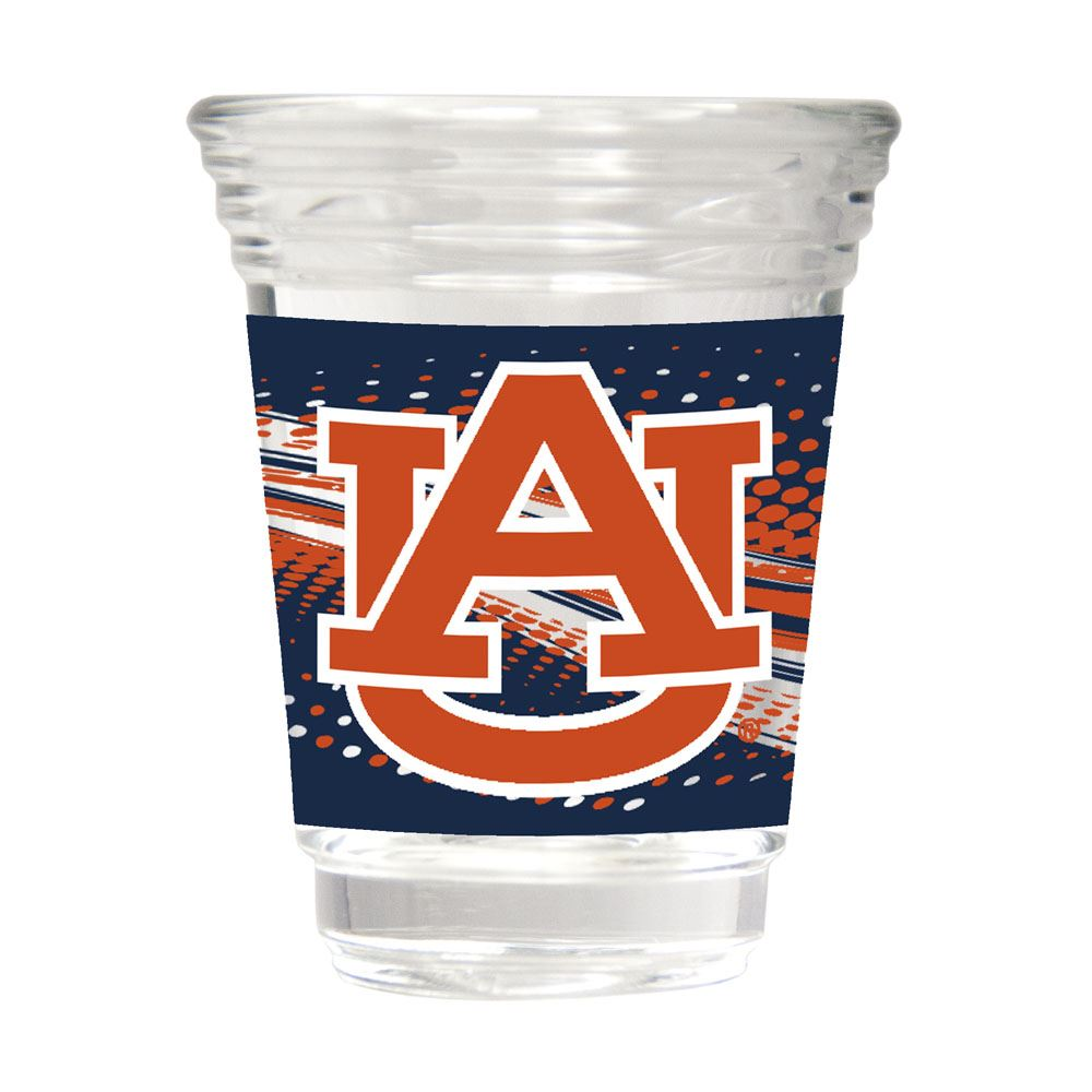 Great American Products NCAA Auburn Tigers Party Shot Glass w/Metallic Graphics 2oz.