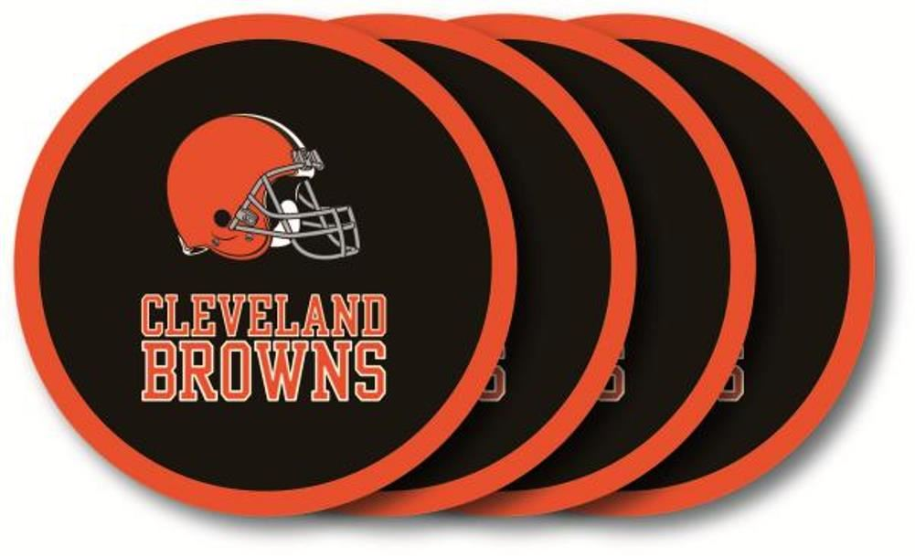 Duck House NFL Cleveland Browns Coaster Set 4-Pack