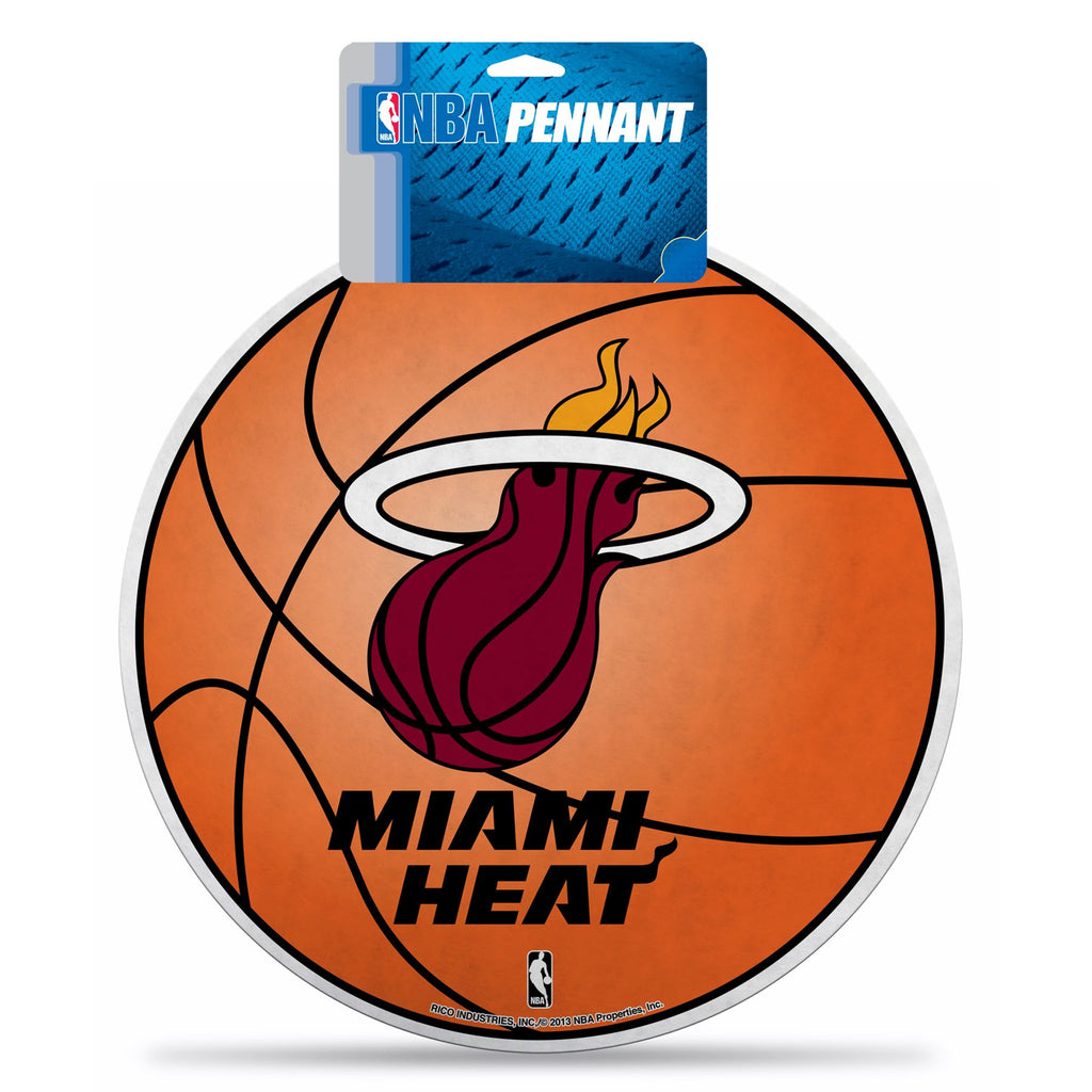 Rico NBA Miami Heat Die-Cut Basketball Pennant