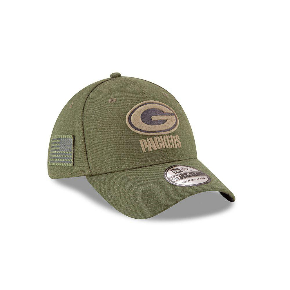 New Era NFL Green Bay Packers 2018 Salute To Service Sideline 39THIRTY Flex  Hat 9c2e15682