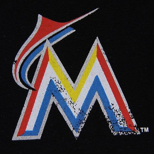 5th & Ocean MLB Women's Miami Marlins Dot Grunge T-Shirt
