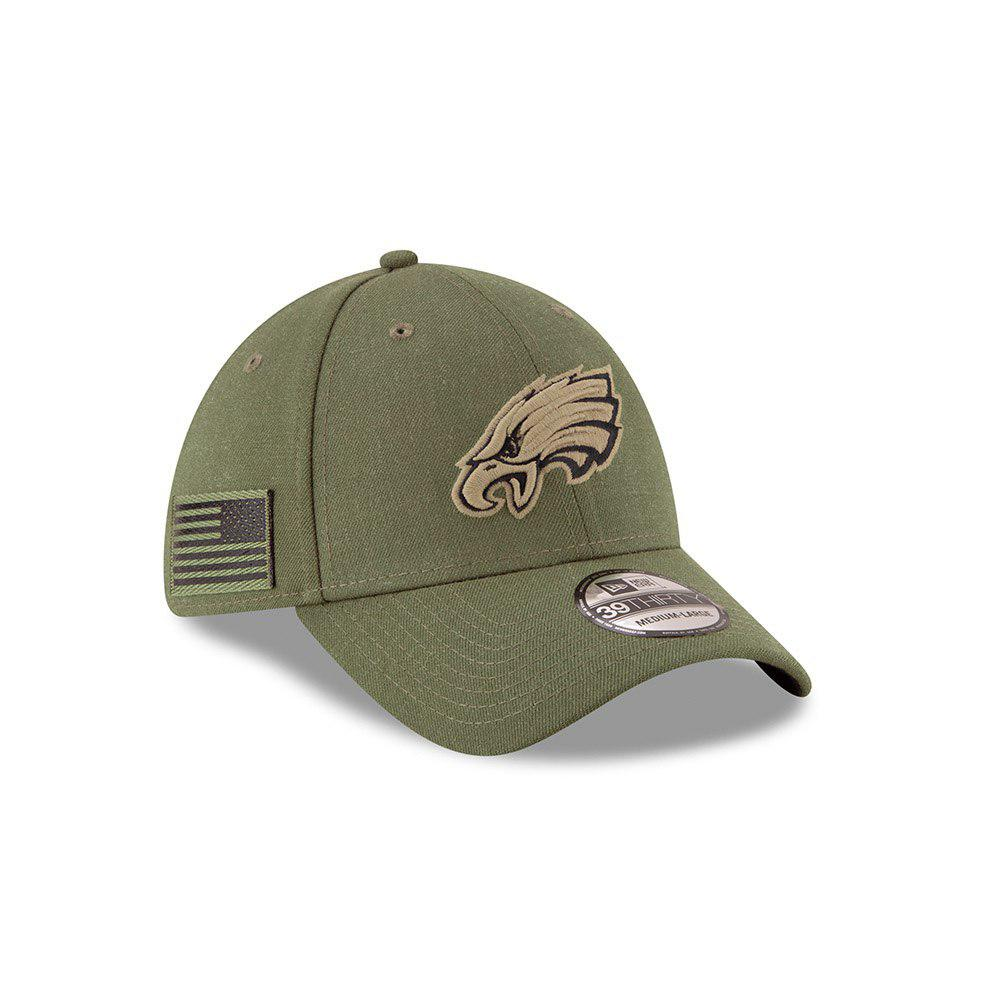 New Era NFL Philadelphia Eagles 2018 Salute To Service Sideline 39THIRTY Flex Hat