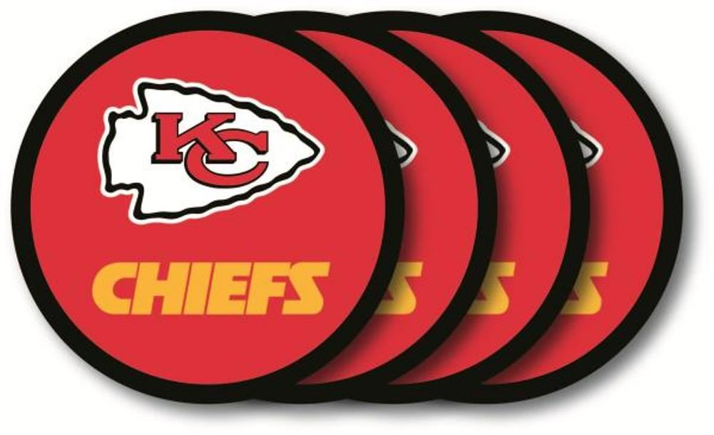 Duck House NFL Kansas City Chiefs Coaster Set 4-Pack
