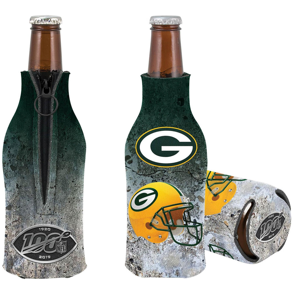 Kolder NFL Green Bay Packers NFL 100th Season Zip Bottle Coolie Koozie