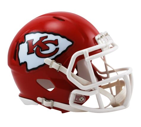 Riddell NFL Kansas City Chiefs Speed Mini Helmet Red
