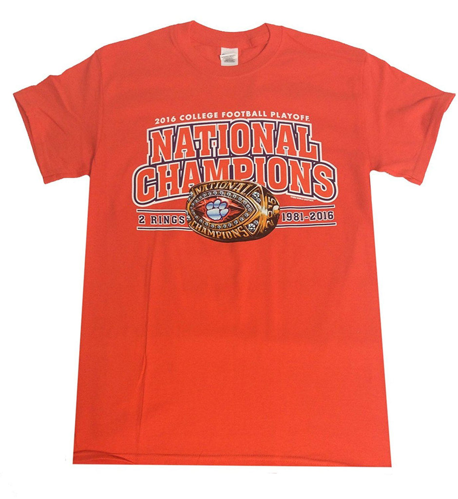 New World Graphics NCAA Men's Clemson Tigers National Champions 2016 Ring T-Shirt