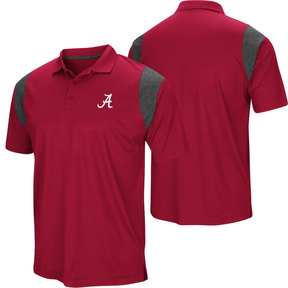 Colosseum NCAA Men's Alabama Crimson Tide Friend Polo