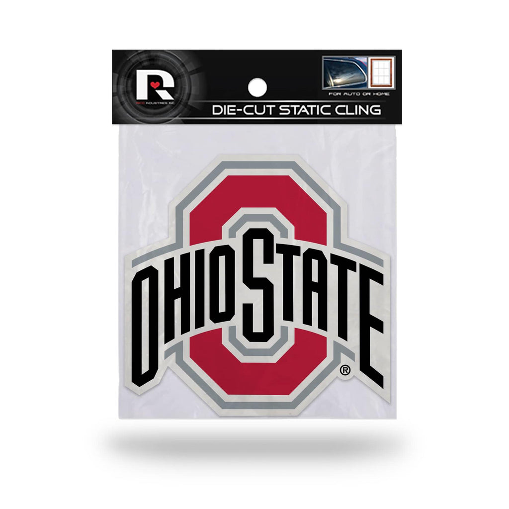 Rico NCAA Ohio State Buckeyes Shape Cut Static Cling Auto Decal Car Sticker Medium SSCM