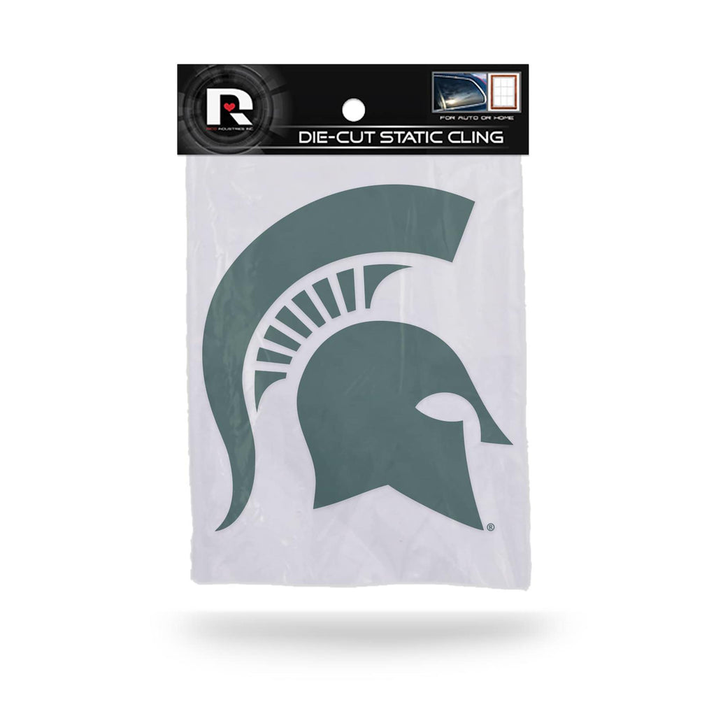 Rico NCAA Michigan State Spartans Shape Cut Static Cling Auto Decal Car Sticker Medium SSCM