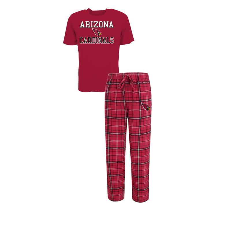 Concept Sports NFL Men's Arizona Cardinals Halftime Pant And S/S Top Set