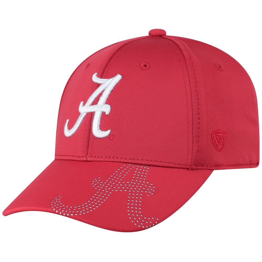 Top Of The World NCAA Men's Alabama Crimson Tide Pitted Memory Fit Flex Fit Hat Crimson Red One Size