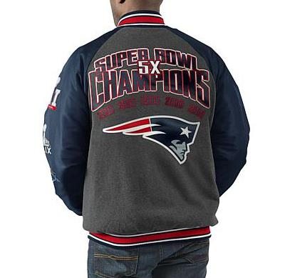 G-III NFL Men's New England Patriots Power Hitter Varsity Jacket