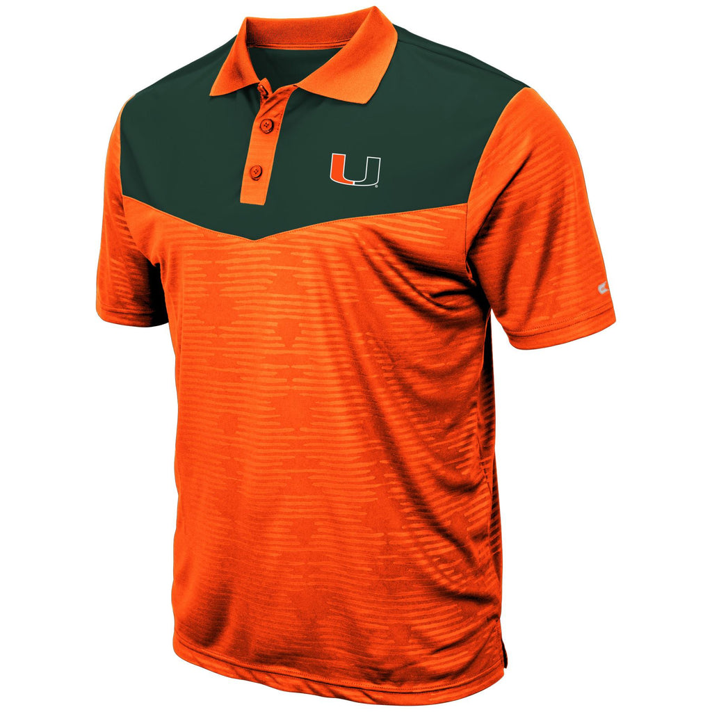 Colosseum NCAA Men's Miami Hurricanes Bart Polo