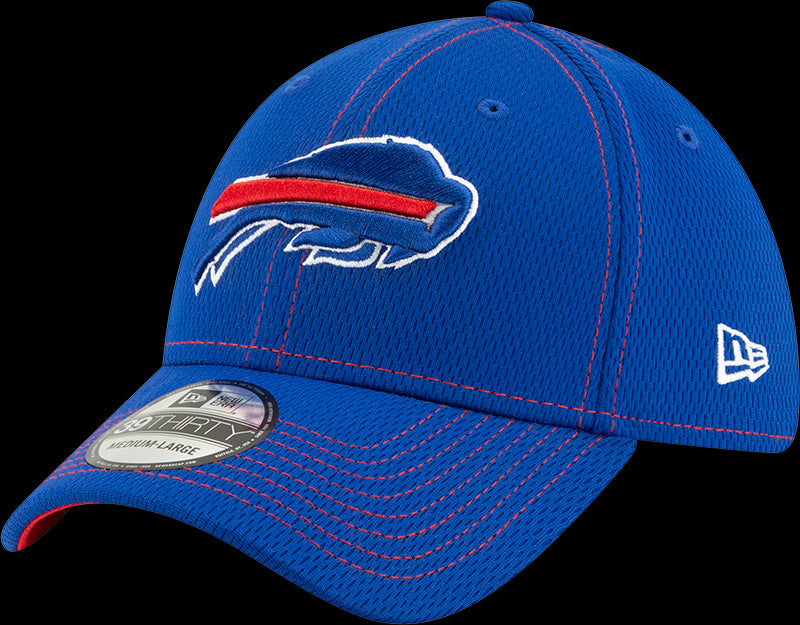 New Era NFL Men's Buffalo Bills 2019 Sideline Road Official 39THIRTY Flex Hat