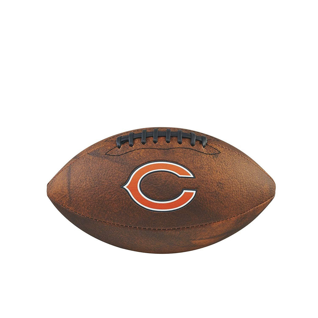 Wilson NFL Chicago Bears Team Logo Throwback Junior Football Brown11 Inch
