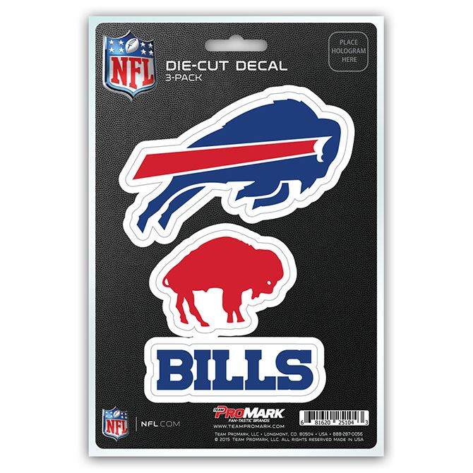 Promark NFL Buffalo Bills Team Decal - Pack of 3