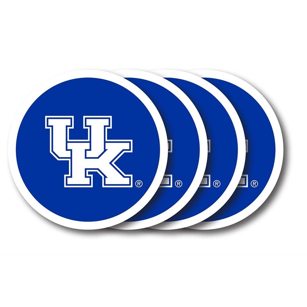 Duck House NCAA Kentucky Wildcats Coaster Set 4-Pack