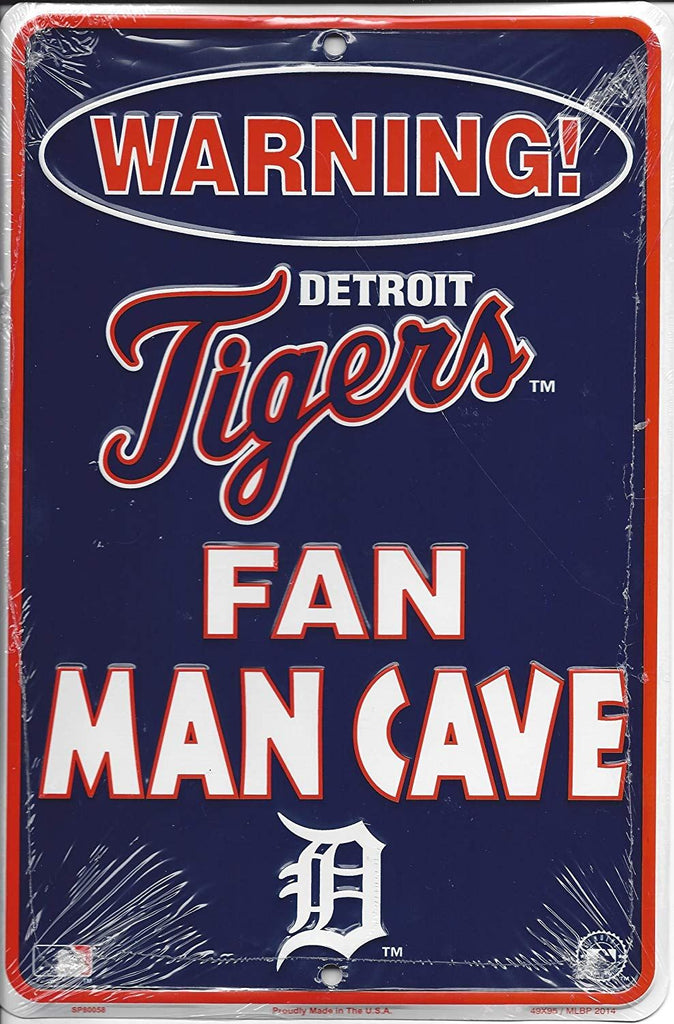 Rico MLB Detroit Tigers Fan Man Cave Metal Sign