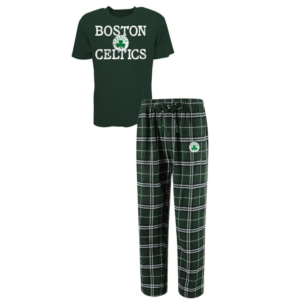 Concept Sports NBA Men's Boston Celtics Duo Shirt And Pants Pajama Sleepwear Set