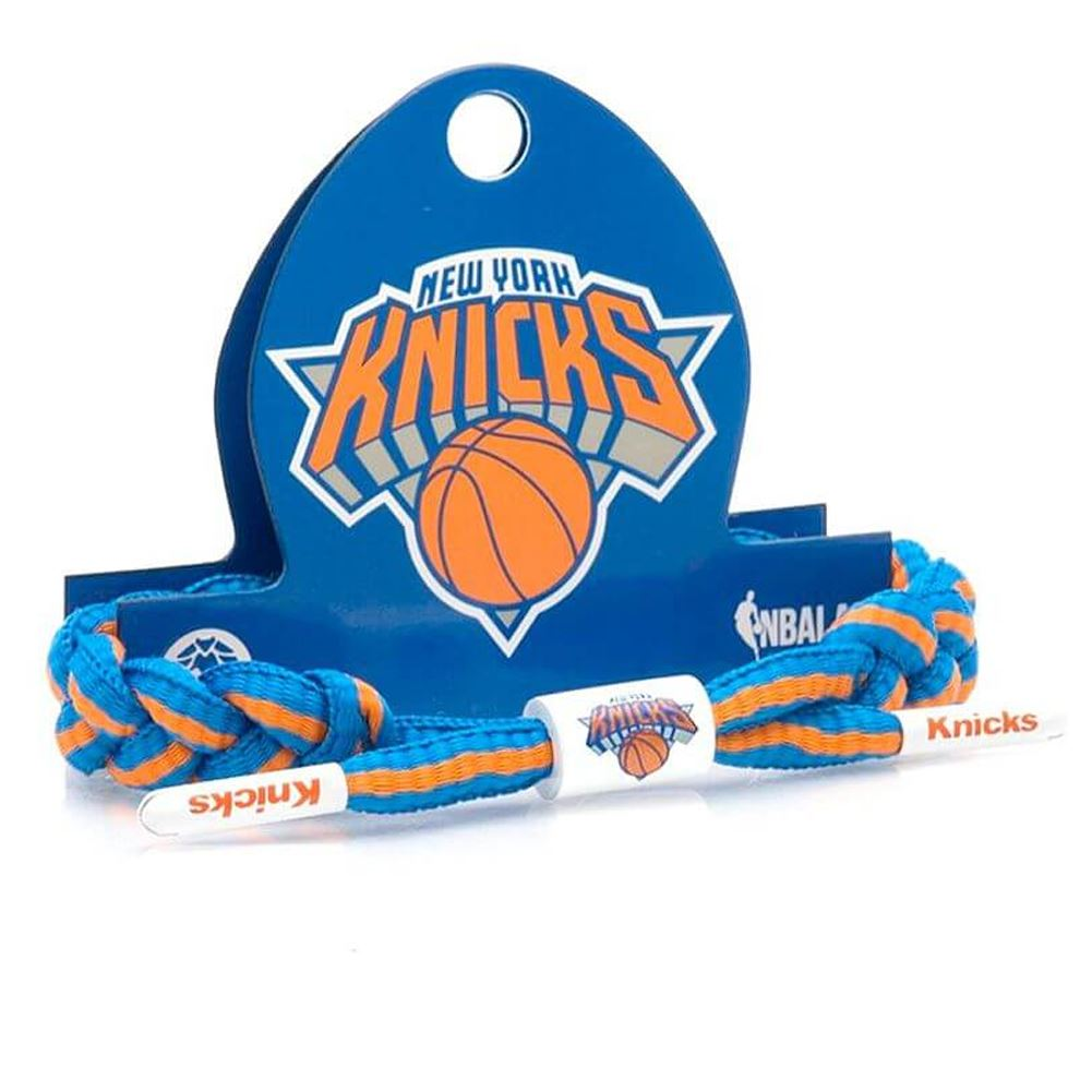new arrival f1f6d 43325 Rastaclat NBA New York Knicks Braided Bracelet One Size Blue Orange