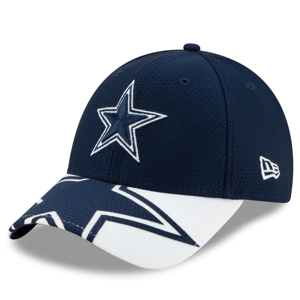 New Era NFL Men's Dallas Cowboys Logo Crop 9FORTY Adjustable Hat Navy