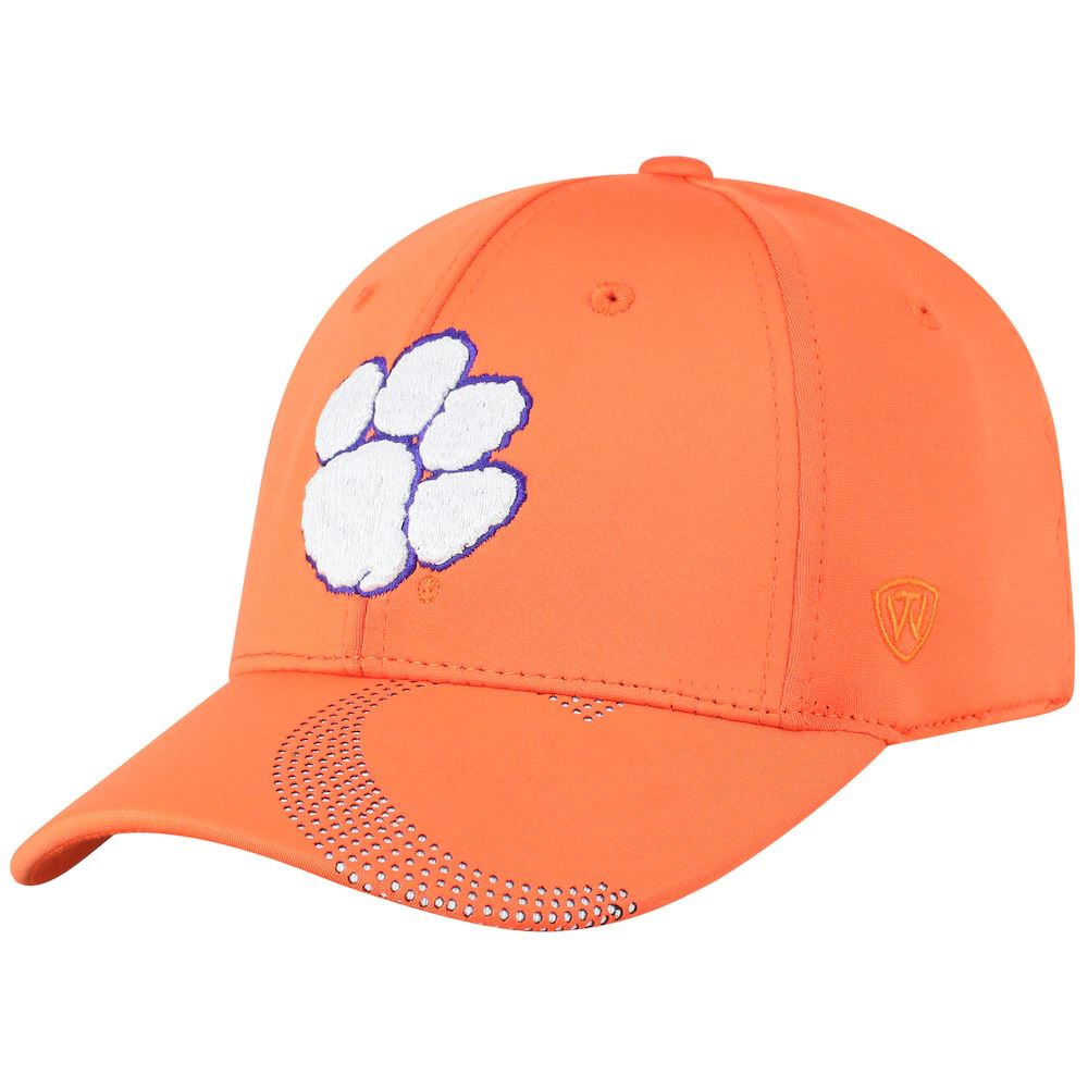 Top Of The World NCAA Men's Clemson Tigers Pitted Memory Fit Flex Fit Hat Orange One Size