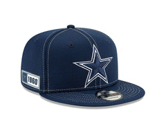 New Era NFL Men's Dallas Cowboys 2019 Official Sideline Road 9Fifty Snapback Hat Navy