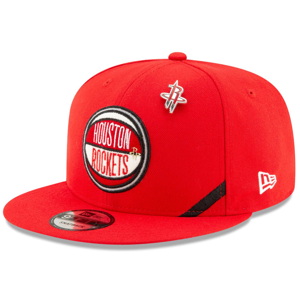 New Era NBA Men's Houston Rockets 2019 Official NBA Draft 9FIFTY Adjustable Snapback Hat Red