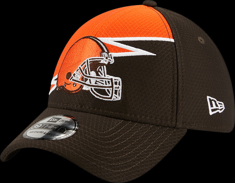 New Era NFL Men's Cleveland Browns BOLT 39THIRTY