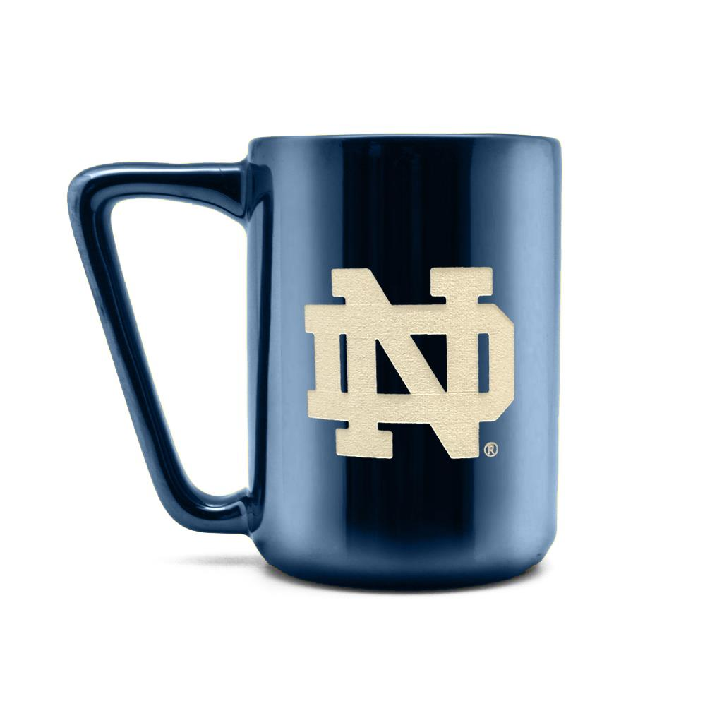 Duck House NCAA Notre Dame Fighting Irish Laser Engraved Ceramic Mug 16 oz.