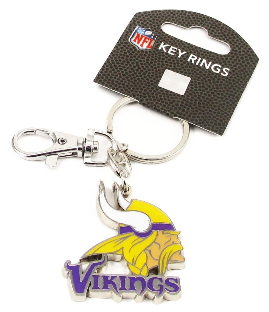 Aminco NFL Minnesota Vikings Logo Heavyweight Keyring