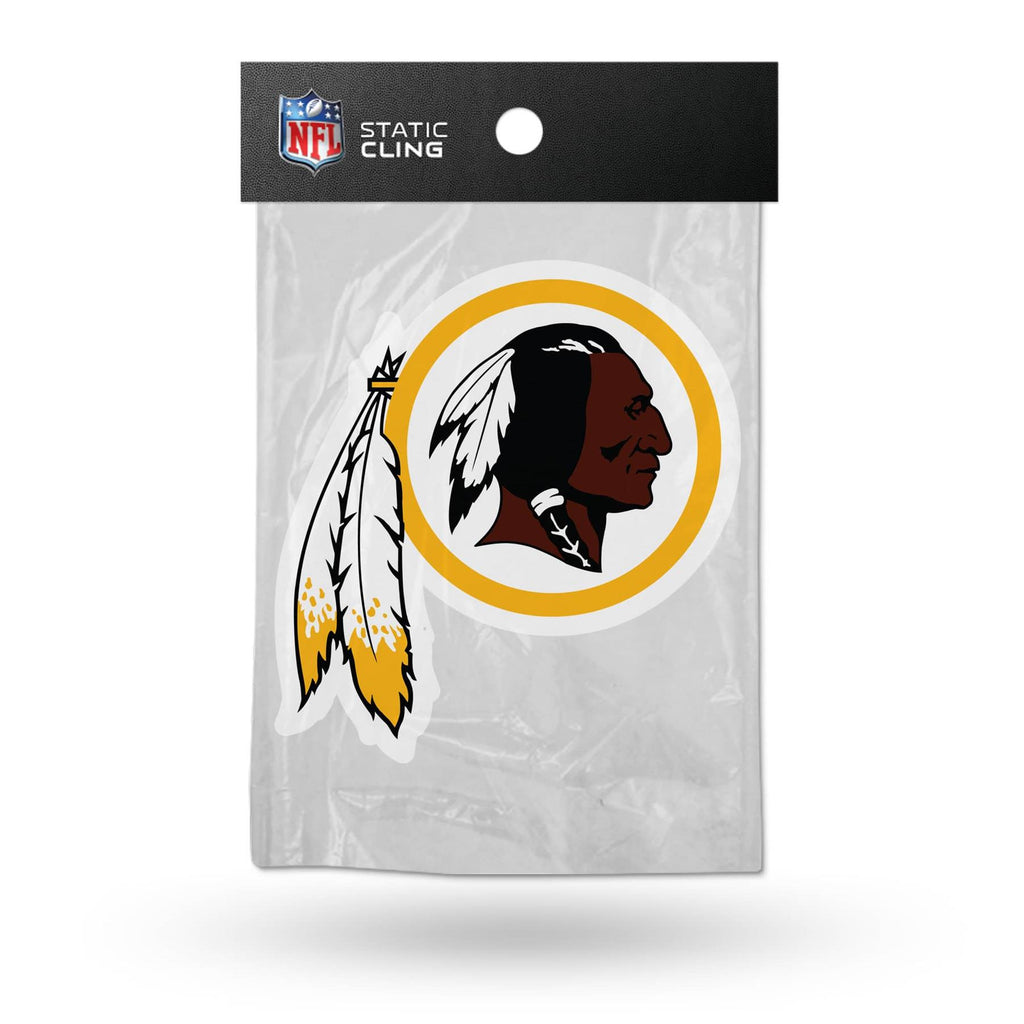 Rico NFL Washington Redskins Shape Cut Static Cling Auto Decal Car Sticker Medium SSCM