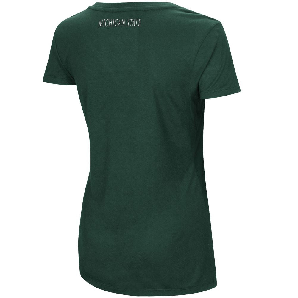 Colosseum NCAA Women's Michigan State Spartans Big Sweet Dollars V-Neck
