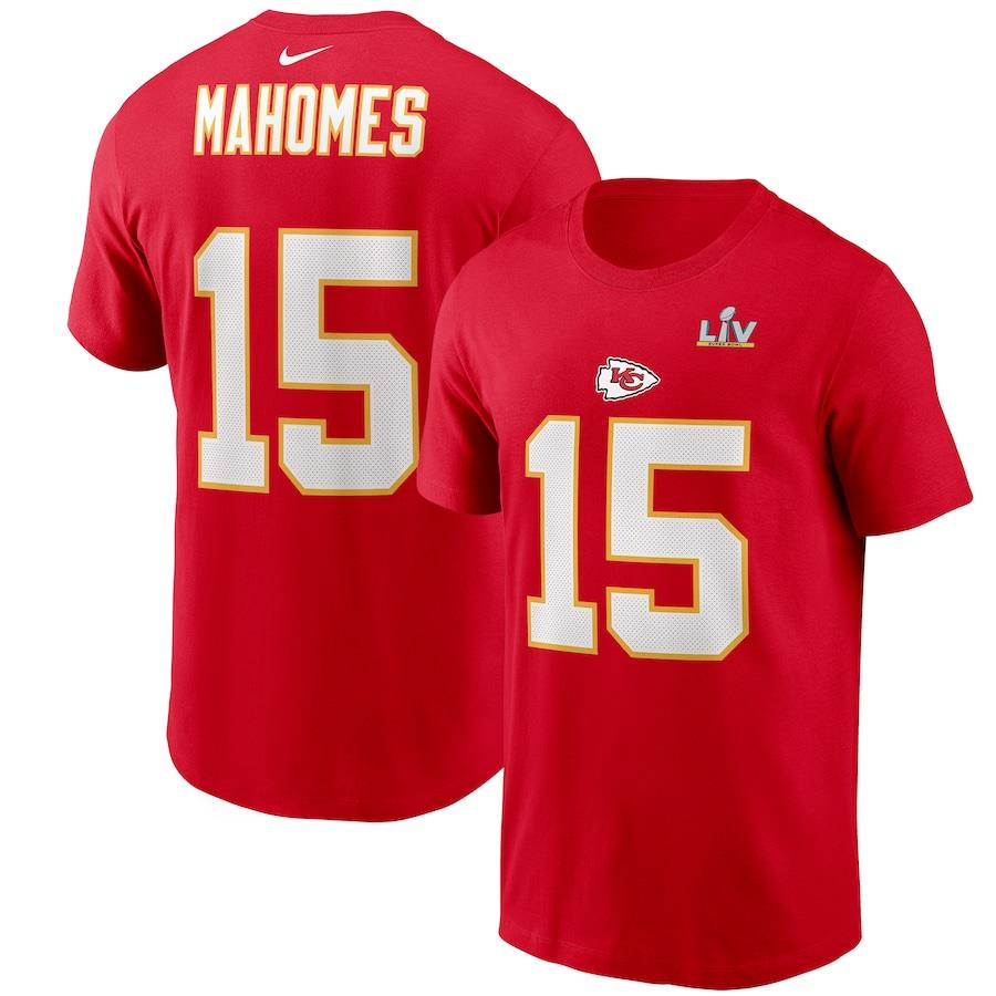 Nike Men's Kansas City Chiefs Patrick Mahomes Super Bowl LV Bound Name & Number T-Shirt