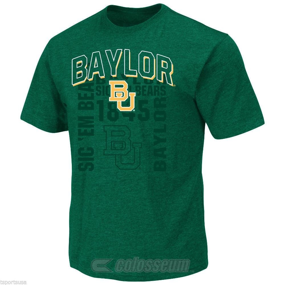 Colosseum NCAA Men's Baylor Bears Fade Out T-Shirt