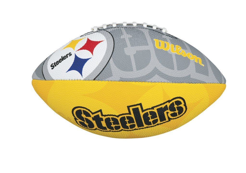 Wilson NFL Pittsburgh Steelers All Team Logo Junior Football All Weather 11 Inch